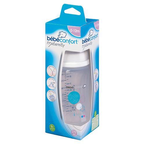 Бутылочка Bebe Confort пластиковая 270мл 0-12м Maternity Evidence белая (4)
