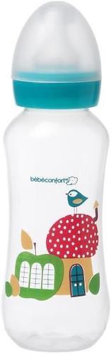 Бутылочка BC пластиковая 240мл 0-12 мес узкая PPLAT голубая (1)