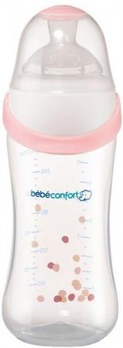 Бутылочка пластиковая Bebe Confort 270 мл Natural comfort Easy clip Розовый (1)