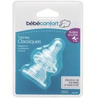 Соска Bebe Confort силиконовая узкая 0-6 мес 2 шт/уп