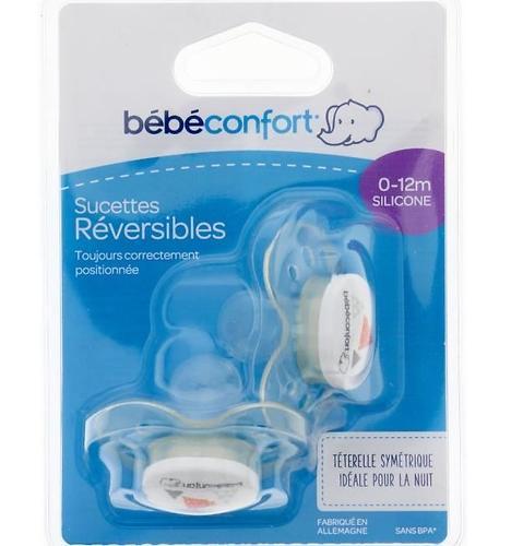 Пустышка Bebe Confort силикон Dental safe Dummies Silicone 0м+ (1)