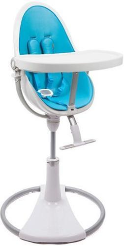 Стульчик для кормления Bloom Fresco Chrome White с вкладышем Bermuda Blue (8)