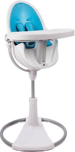 Стульчик для кормления Bloom Fresco Chrome White с вкладышем Bermuda Blue (9)