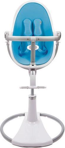 Стульчик для кормления Bloom Fresco Chrome White с вкладышем Bermuda Blue (10)