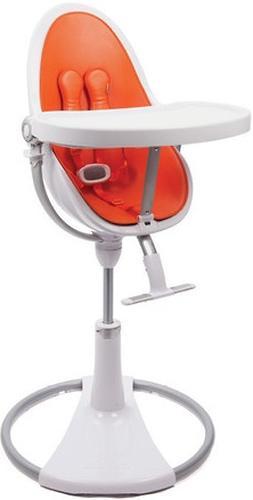Стульчик для кормления Bloom Fresco Chrome White с вкладышем Harvest Orange (8)
