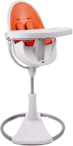 Стульчик для кормления Bloom Fresco Chrome White с вкладышем Harvest Orange (10)
