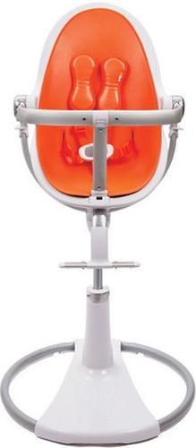 Стульчик для кормления Bloom Fresco Chrome White с вкладышем Harvest Orange (9)