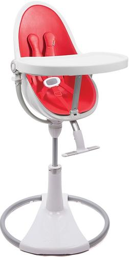 Стульчик для кормления Bloom Fresco Chrome White с вкладышем Rock Red (8)