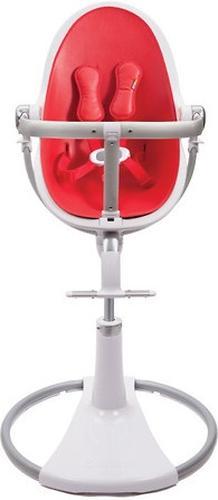 Стульчик для кормления Bloom Fresco Chrome White с вкладышем Rock Red (10)