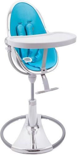 Стульчик для кормления Bloom Fresco Chrome Silver c вкладышем Bermuda Blue (7)
