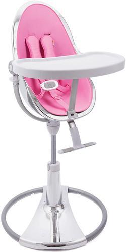 Стульчик для кормления Bloom Fresco Chrome Silver с вкладышем Rosy Pink (7)