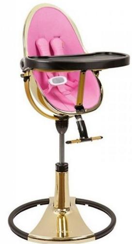 Стульчик для кормления Bloom Fresco Chrome Yellow Gold c вкладышем Rosy Pink (13)