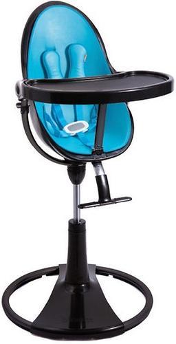 Стульчик для кормления Bloom Fresco Chrome Black с вкладышем Bermuda Blue (8)
