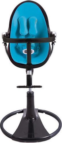 Стульчик для кормления Bloom Fresco Chrome Black с вкладышем Bermuda Blue (10)