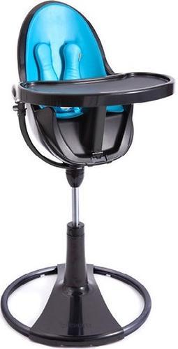 Стульчик для кормления Bloom Fresco Chrome Black с вкладышем Bermuda Blue (9)