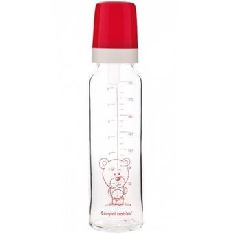 Бутылочка Canpol стеклянная 240 мл 12мес+ - Minim