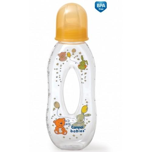 Тритановая бутылочка Canpol 250 мл 6мес+ с отверстием и силиконовой соской (7)