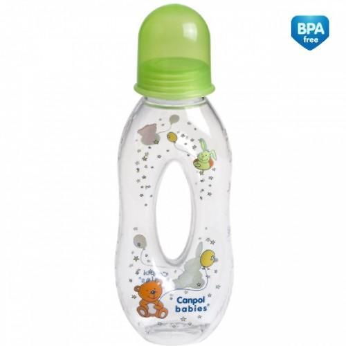 Тритановая бутылочка Canpol 250 мл 6мес+ с отверстием и силиконовой соской (8)