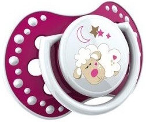 Lovi пустышка силиконовая динамичная 0-3 мес NIGHT DAY 2 шт для девочек 22/809 girl (7)