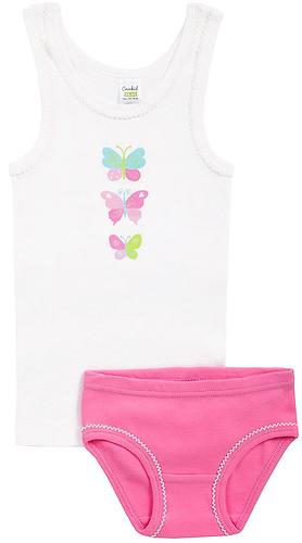 Комплект Crockid для девочки К 1064/сахар+лососево-розовый (3)