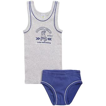 Комплект Crockid для мальчика К 1094/серо-голуб.меланж+джинсовый - Minim