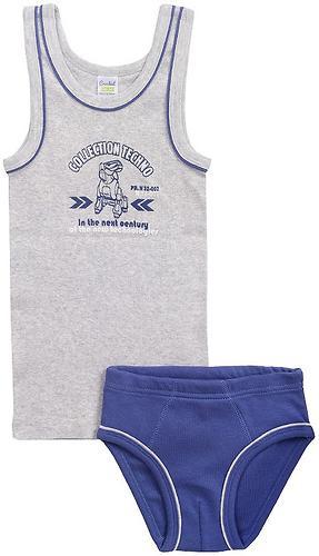 Комплект Crockid для мальчика К 1094/серо-голуб.меланж+джинсовый (1)