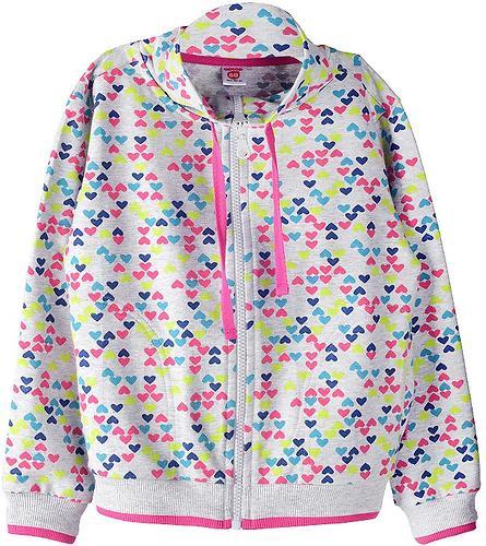 Жакет Crockid для девочки К 300252/серо-голуб.меланж цв.сердечки к99 (1)
