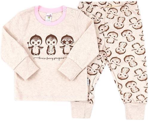 Пижама Crockid детская К 1516/св.беж.меланж+пингвины на беж.меланже (1)