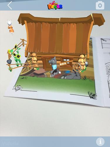 Книга Devar Сказка-раскраска Волк и семеро козлят 3D (8)