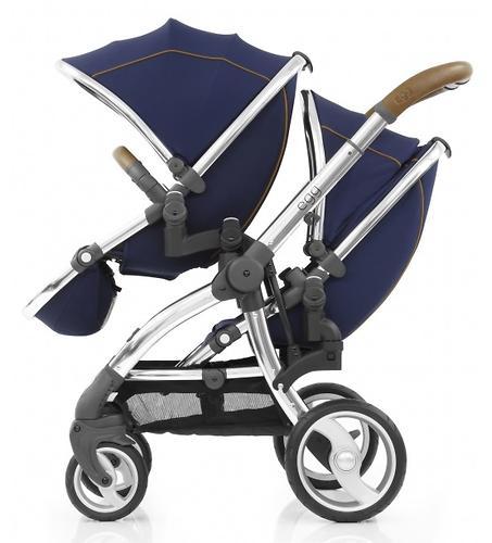 Прогулочный блок для второго ребенка Egg Tandem Seat Regal Navy - Mirror Chassis (6)