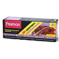Универсальные пакеты Fissman с zip-замком 16х14 см (18 шт.)