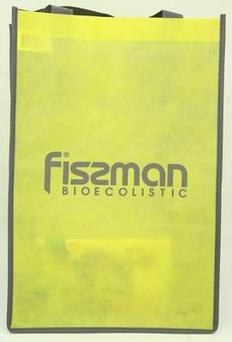 Промо-сумка Fissman для покупок с логотипом Fissman желтая (1)