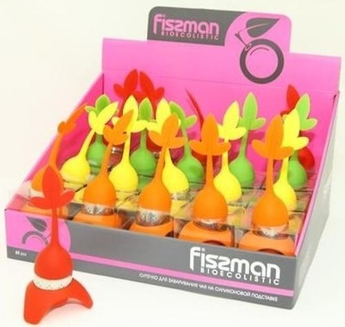 Ситечко для заваривания чая Fissman на силиконовой подставке 7232 (1)
