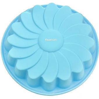 Форма для выпечки Fissman Ромашка цвет Лазурный (силикон) 6670 - Minim