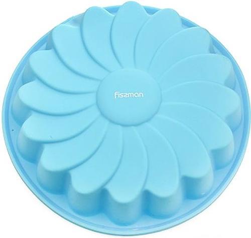 Форма для выпечки Fissman Ромашка цвет Лазурный (силикон) 6670 (1)