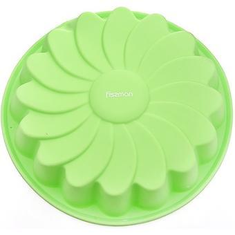 Форма для выпечки Fissman Ромашка цвет Зеленый Чай (силикон) - Minim