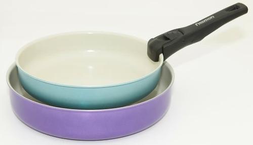 Набор посуды 3 пр. PRESTO со съемной ручкой (алюминий с керамическим антипригарным покрытием) Fissman 4861 (1)