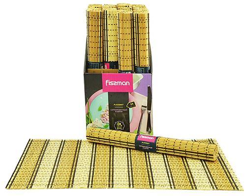 Сервировочный коврик Fissman на обеденный стол 45x30 см (бамбук) 0660 (1)