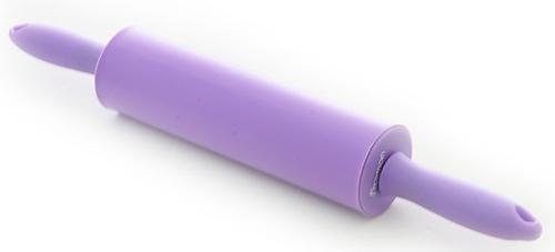 Скалка Fissman 39,5x5,5 см, цвет Лиловый (силикон) 7561 (1)