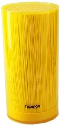 Универсальная подставка для кухонных ножей и ножниц 11x22 см Желтая (пластик) Fissman 2920 (4)
