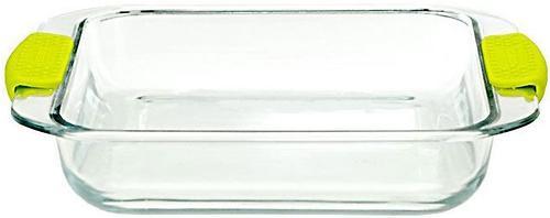 Квадратное блюдо для запекания Fissman 1.8 л с силиконовыми ручками (стекло) 6139 (1)