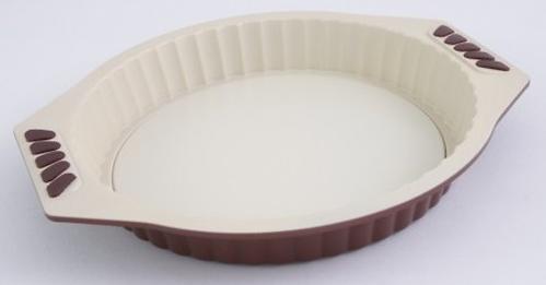 Форма для выпечки пирога 27 см с разъемным дном (углеродистая сталь с керам. антиприг. покрытием) 5560 (1)