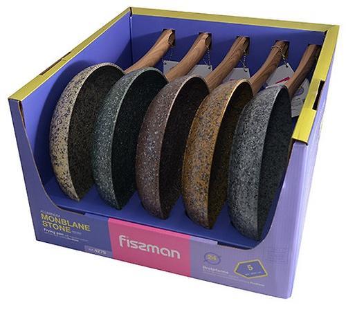 Сковороды для жарки Fissman Monblane Stone 24x4,9 см в дисплее (алюминий) 4279 (1)