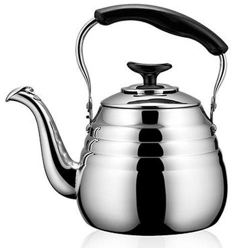 Чайник Fissman кипячения воды Deauville 1 л со свистком (нерж. сталь) 5935 (1)