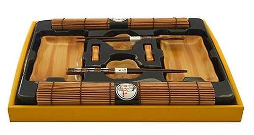 Набор Fissman для суши 10 пр. на 2 персоны (керамика, бамбук, дерево) 9586 (1)