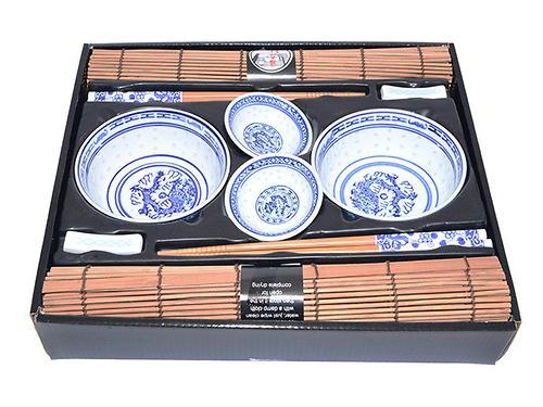 Набор Fissman для суши 10 пр. на 2 персоны (керамика, бамбук) 9583 (1)