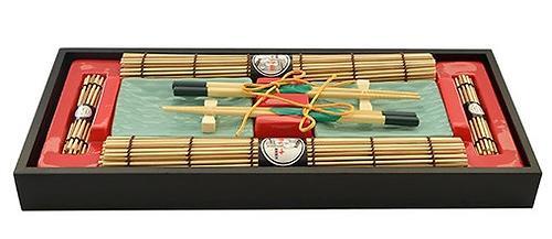 Набор Fissman для суши 10 пр. на 2 персоны (керамика, бамбук, дерево) 9588 (1)