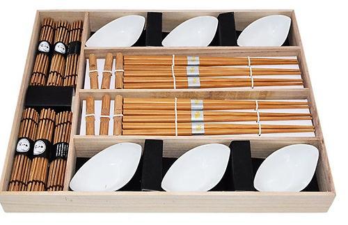 Набор Fissman для суши 24 пр. на 6 персон (керамика, бамбук) 9581 (1)