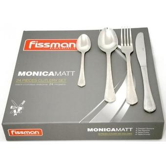 Набор столовых приборов Fissman MONICA матированный 24 пр. (нерж. сталь) 3180 - Minim