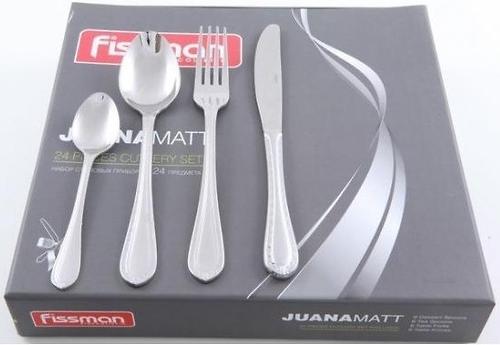 Набор столовых приборов Fissman Juana матированный 24 пр. (нерж. сталь) 3186 (1)